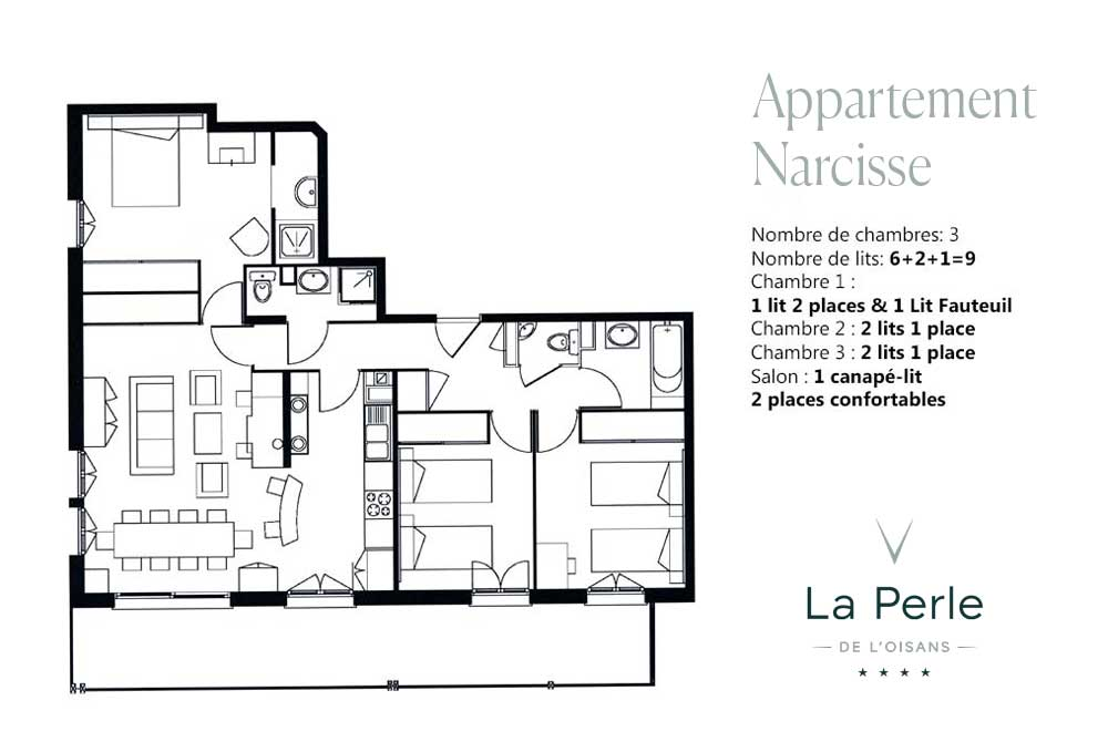 Plan appartement Narcisse