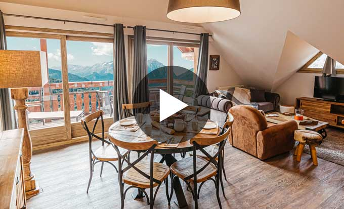 appartement vaujany edelweiss video